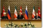 Türkiye-Rusya-İran üçlü zirvesinde Suriye'nin toprak bütünlüğünün korunması vurgusu