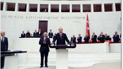 Cumhurbaşkanı Erdoğan, TBMM Genel Kurulunda yemin etti