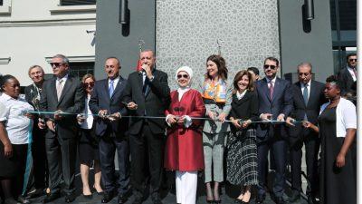 Cumhurbaşkanı Erdoğan, Pretorya Büyükelçiliği Kançılarya binası açılışında konuştu