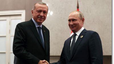 Cumhurbaşkanı Erdoğan, Rusya Federasyonu Devlet Başkanı Putin ile bir araya geldi