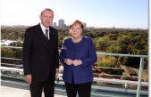 Cumhurbaşkanımız Erdoğan, Almanya Başbakanı Merkel ile çalışma kahvaltısında bir araya geldi