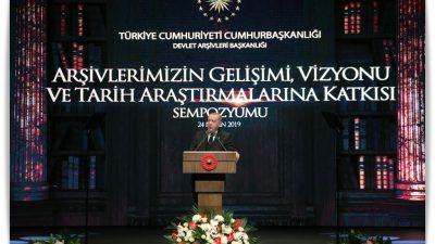 """Cumhurbaşkanı Erdoğan,""""Amacı hakikati bulmak olan herkese arşivlerimizin kapıları sonuna kadar açıktır"""""""