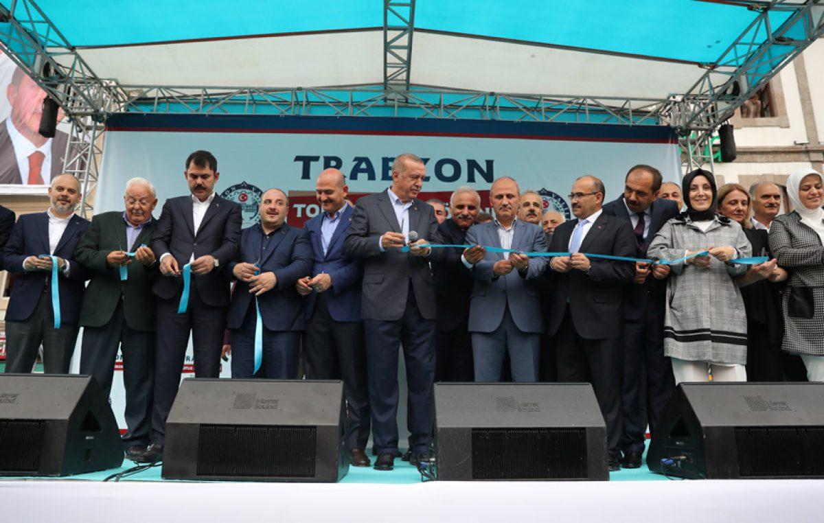 Cumhurbaşkanı Erdoğan, Trabzon'da Toplu Açılış Törenine katıldı