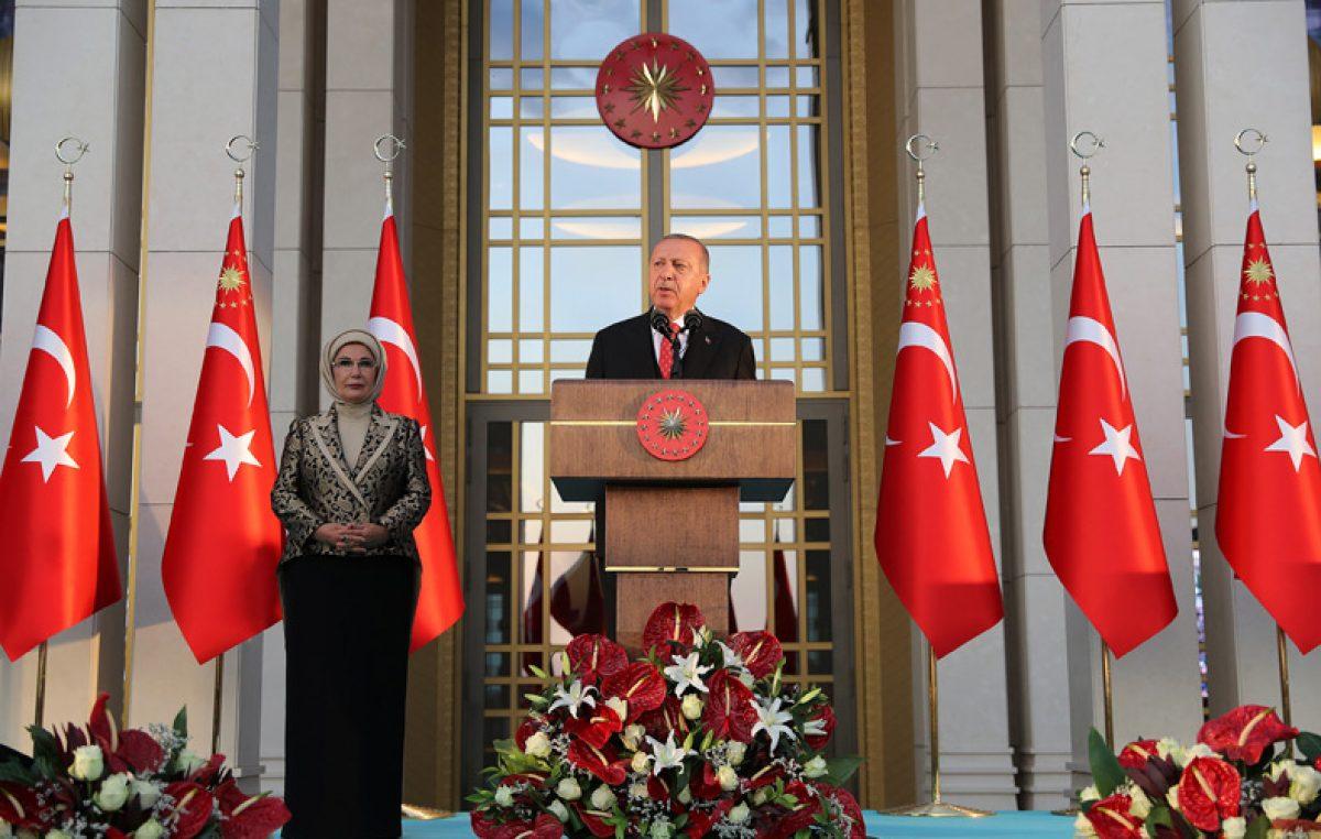 Cumhurbaşkanı Erdoğan, 30 Ağustos Zafer Bayramı Resepsiyonunda konuştu