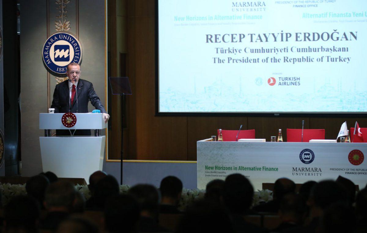 """Cumhurbaşkanı Erdoğan""""Önümüzdeki dönemde alternatif finans konusunda daha cesur ve kararlı adımlar atacağız"""""""