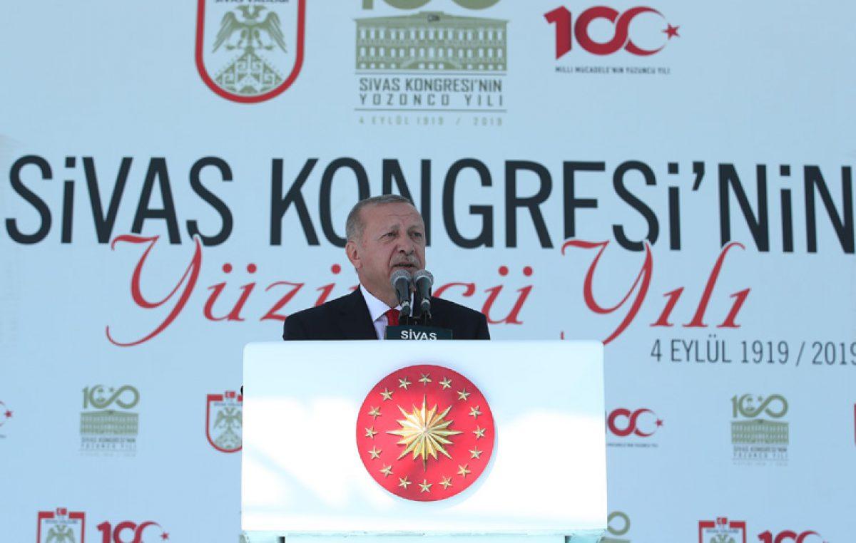 Cumhurbaşkanı Erdoğan, Sivas Kongresi'nin 100. yıl dönümü kutlama programına katıldı