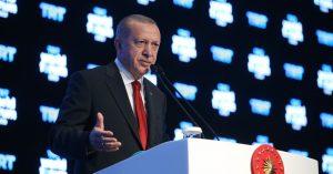 """Cumhurbaşkanı Erdoğan""""Türkiye'nin hiçbir ülkenin toprağında, hiçbir toplumun özgürlüğünde veya çıkarlarında gözü yoktur"""""""