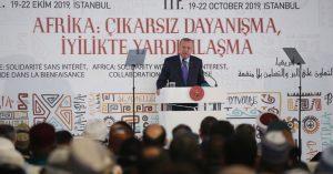 """Cumhurbaşkanı Erdoğan""""Türkiye olarak Afrika'da kapısı çalınmadık dost, yarası sarılmadık gönül, iş birliği yapılmadık devlet bırakmıyoruz"""""""