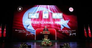 Cumhurbaşkanı Erdoğan Atatürk'ü Anma Töreni'nde konuştu