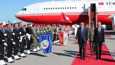 Son dakika | Cumhurbaşkanı Erdoğan Tunus'ta