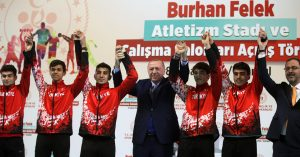 """Cumhurbaşkanı Erdoğan""""Sportif imkânları herkes için ulaşılabilir hâle getirmenin gayreti içindeyiz"""""""