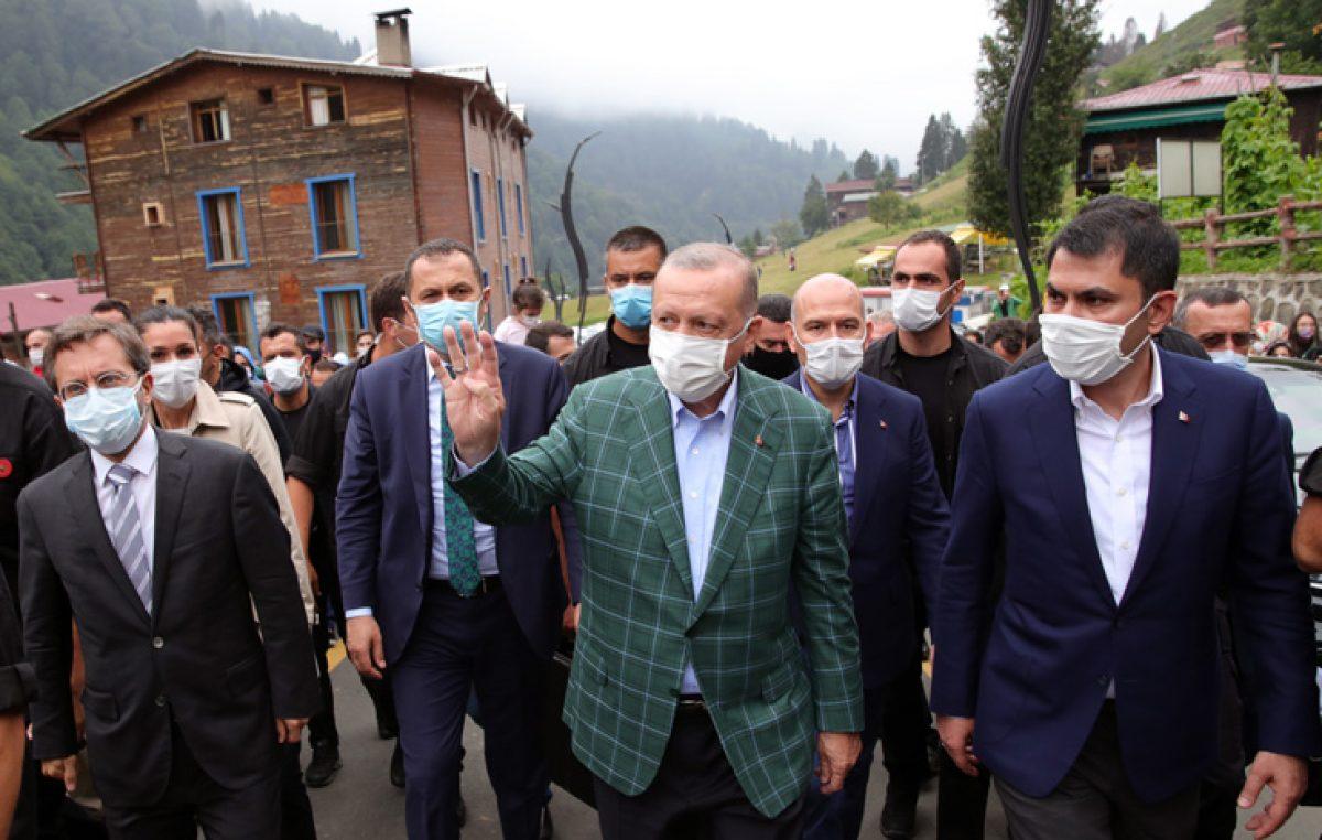 Cumhurbaşkanı Erdoğan, Ayder Yaylası'nda incelemelerde bulundu
