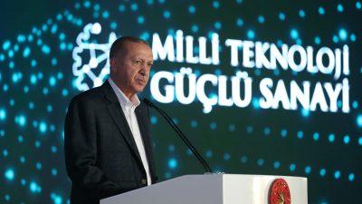 """Cumhurbaşkanı Erdoğan , """"Salgın etkisini yitirip taşlar yerine oturdukça, Türk ekonomisi yeni rekorlara koşmaya devam edecektir"""""""